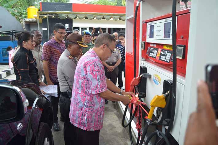 Launching solar non subsidi di SPBU Fakfak