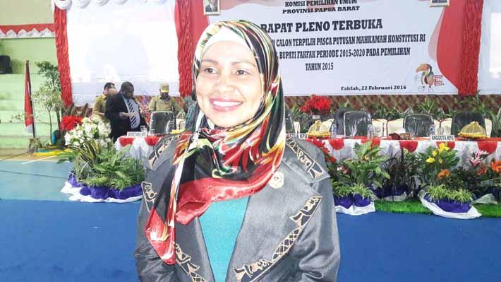 Ketua DPRD Kabupaten Fakfak, Siti Rahma Hegemur, ST.