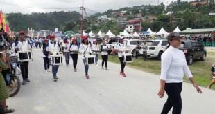 Partisipasi Marching Band Bahana Kopa Fakfak dalam pembukaan PEDA III