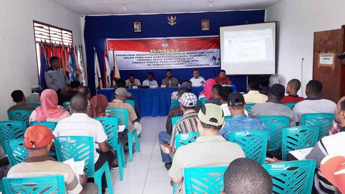 Sosialisasi Rekapitulasi DPS yang diselenggarakan KPU Kabupaten Fakfak