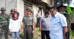 Bupati bersama Dandim dan Kapolres Fakfak, mengunjungi lokasi TMMD ke 97 di kampung Weri kapal