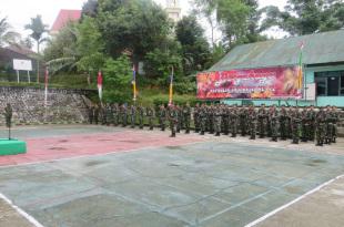 Upacara Hari Kesaktian Pancasila di Lapangan Apel Makodim 1706/Fakfak