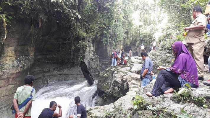 Lokasi musibah, air terjun kayuni di Kampung Kayuni, Fakfak. Indah tapi berbahaya.