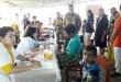 Bupati Fakfak, Mohammad Uswanas, meninjau pelaksanaan pengobatan massal gratis yang digelar Dinas Kesehatan