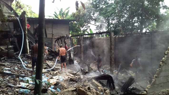 Gudang Pala dekat Bandara Torea Fakfak ludes terbakar