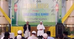 Syech Khaleed Al Hamoudy pada tablik akbar di Masjid Agung Baitul Makmur, Fakfak.