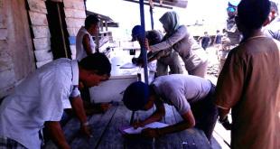 Tim Terpadu Pengawasan dan Pengendalian Kegiatan Eksploitasi Penambangan Pasir Laut melakukan razia