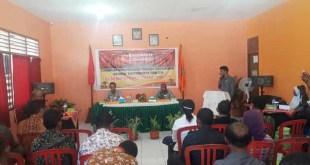 Rapat Sosialisasi Pengawasan Pemilu Partisipatif Pengawas Pemilihan Umum Distrik Se Kabupaten Fakfak.