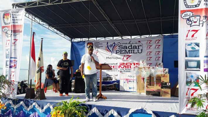 Ketua KPU, Haeruddin Kutanggas, mengingatkan bahwa Pemilu tinggal satu tahun lagi
