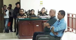 2 orang saksi pihak termohon dihadirkan dalam sidang permohonan praperadilan di PN Fakfak siang tadi