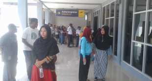 Suasana terminal baru pada Bandara Torea Fakfak, Rabu (27/6) siang