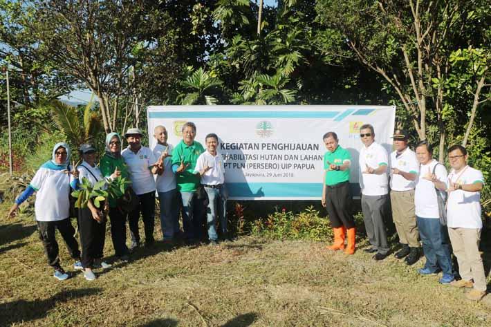 Penghijauan Lembah Furia, Kelurahan Wahno, Distrik Abepura, Kota Jayapura.