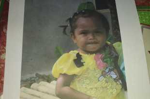 Balita hilang dari rumahnya, Natalia (3 tahun)
