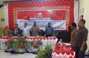 Sosialisasi Tata Cara Dan Prosedur Pencalonan Anggota DPRD Kabupaten/Kota Dalam Pemilu 2019