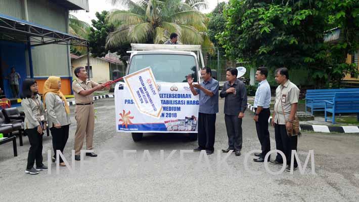 Launching Kegiatan Ketersediaan Pasokan dan Stabilisasi Harga (KPSH) Beras Medium Tahun 2018 di Kabupaten Fakfak.