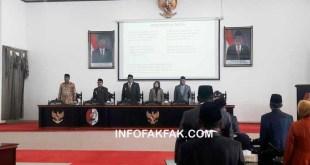 Suasana Rapat Paripurna Istimewa DPRD Kabupaten Fakfak, dalam rangka memperingati Hari Jadi  Kota Fakfak ke 118 tahun 2018,