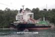 Kapal barang Hijau Jelita Surabaya menerjang kabel listrik yang melintang di atas Pelabuhan Fakfak