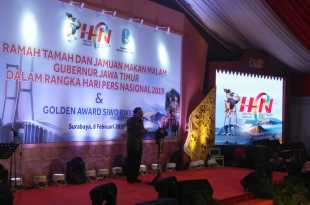 Suasana Ramah Tamah dan Jamuan Makan Malam Peringatan HPN 2019 di Grahadi, Surabaya