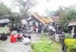Rumah yang disewa PT. Rimbun Sawit Papua terbakar tadi malam