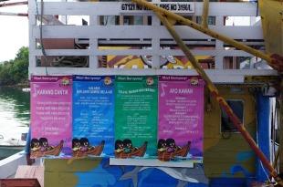 Salah satu sudut edukasi di Kapal Kalabia