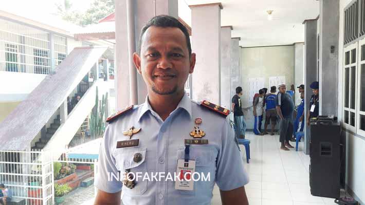 H. Heru, Kepala LP kelas IIB Fakfak, kekurangan surat suara