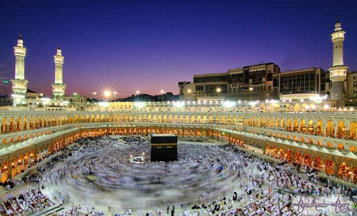 Ilustrasi ibadah haji di Mekah