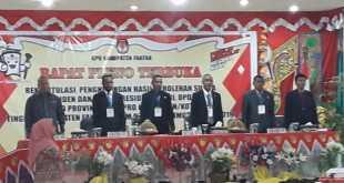 Pembukaan Rapat Pleno Terbuka Rekapitulasi Perolehan Suara Pemilu 2019, Minggu (5/5).