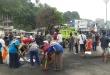 Ribuan warga Fakfak kerja bhakti membersihkan area konflik yang terjadi Rabu, 21 Agustus lalu
