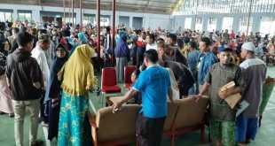 Suasana verifikasi pedagang Pasar Thumburuni