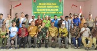 Suasana Sosialisasi Wawasan Kebangsaan di wilayah Koramil Kokas
