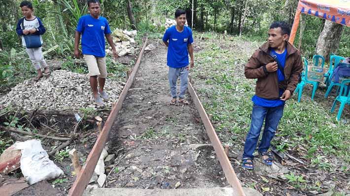 Jalan sepanjang 130 meter yang akan dibangun secara padat karya