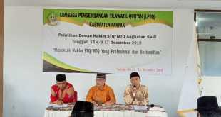 Aisten III Setda Fakfak, Girin, S.E., membuka Pelatihan Dewan hakim dan Panitera STQ/MTQ Kabupaten Fakfak II
