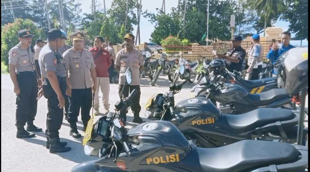 Jelang Pilkada, Kapolres Kaimana gelar pemeriksaan kelengkapan  kendaraan dinas anggotanya